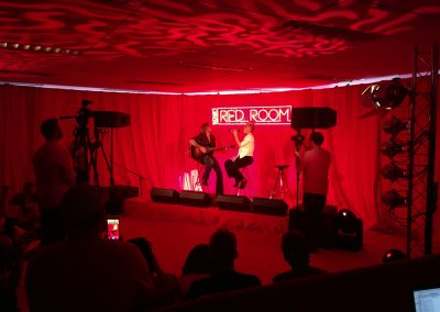 Pink in Nova FM's Red Room