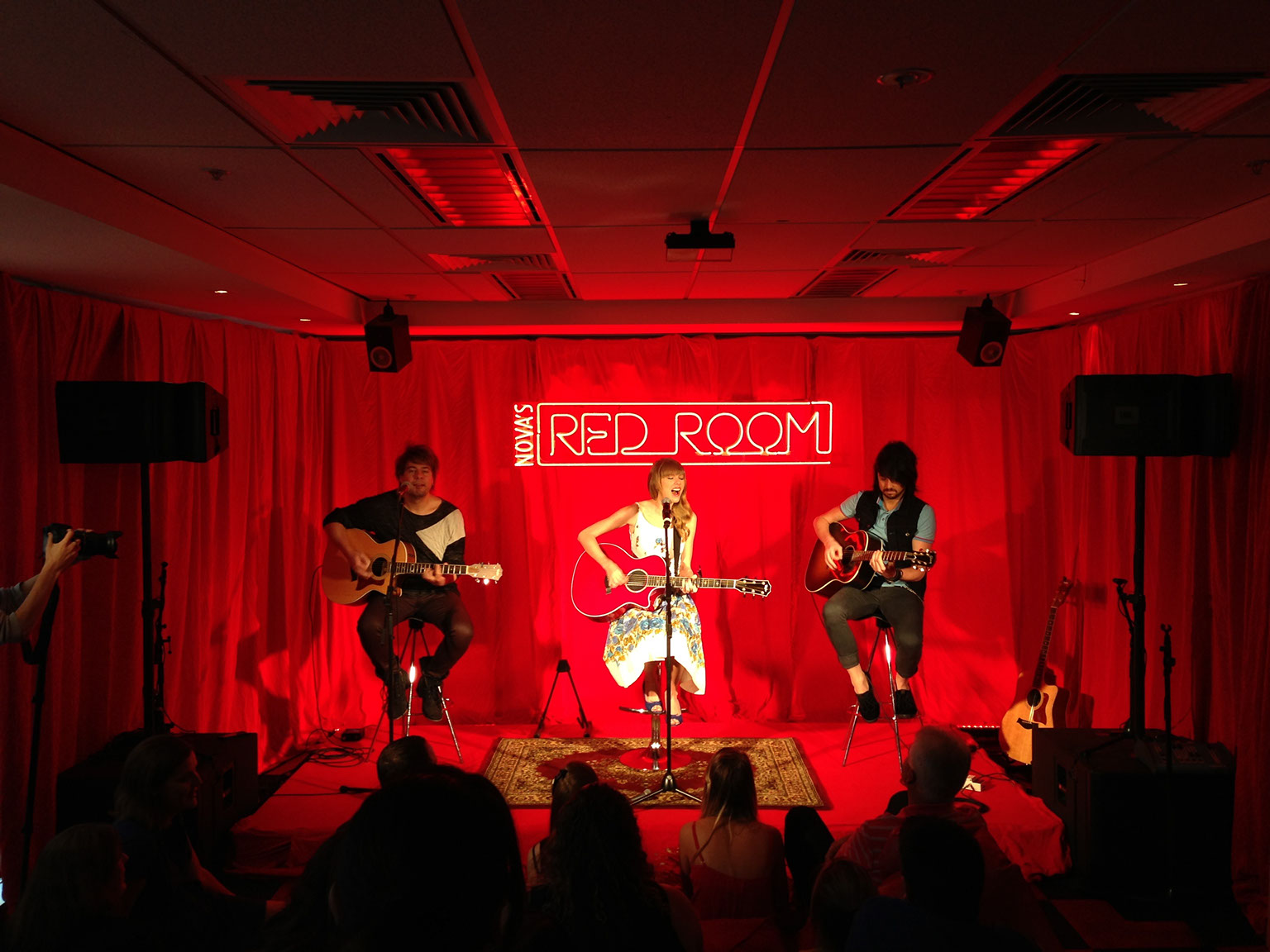 Taylor Swift in Nova FM's Red Room